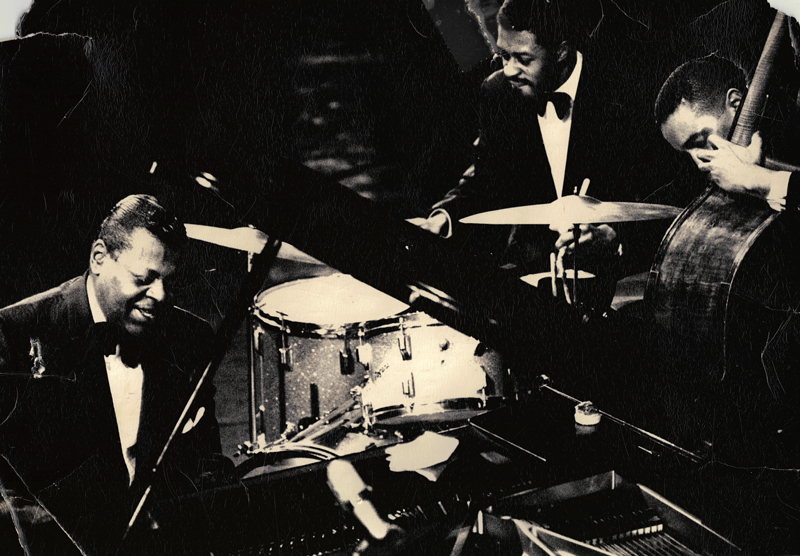 Louis Hayes with Oscar Peterson and Sam Jones
